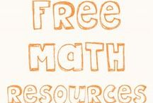 Free Math Resources / Links to free math resources primarily for grades K-5.  / by The Teacher Treasury