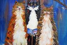 Cat Art / by Linda Rea