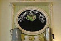 Coffee Bar for Corner Sink Ideas / by Mary Lou LaBerge