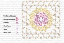 Diagramas crochet-ganchillo / Diagramas de crochet-ganchillo / by Ana Mora Abril