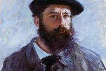 """""""Monet"""" (1840 - 1926) / Oscar-Claude Monet 14 de novembro de 1840, Paris, França - 5 de dezembro de 1926, Giverny, França. Períodos: Impressionismo, Arte moderna. / by Marisete Fachini Girardello"""