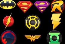 BD Justice league / Superman, Batman, Hawkman, Green lantern, Aquaman, Wonder woman / by Francois Paradis