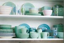 Kitchen + Baking / Cake recipes, dessert recipes, aqua kitchen, retro kitchen. / by Janelle