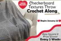 Checkerboard Textures Throw Crochet Along!   Red Heart / Every 2 weeks a new free square pattern to add to this cute throw! / by Jodi Keller