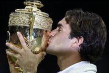 Tennislegendes / Kannie genoeg pics van Federer hê nie!!!!   / by Lynette Van Rooyen