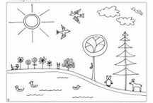 Kids - coloring pages and other printables / All kinds of printables for kids to draw, paint, craft, play with... / by Andrea Cuda