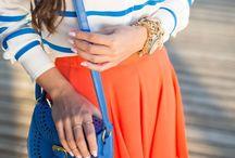 """Savannah State University"" color block theme outfits! [orange & blue] / My alma mata! [Go Savannah State] #schoolspirit :)  / by Charity Mahone"
