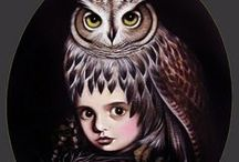 Owls / Owls have been my favourite bird since I was a little kid.  That, or a phoenix - but that's fictional. / by Kita Inoru