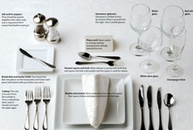 Table Elements / various table settings for all occasions  / by Florinda (Linda) Wallace