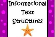 Informational Text Structures / Common Core Created / by The Teacher Next Door