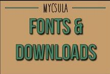 Fonts & Downloads / by myCSULA