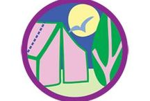 Camper Badge -- Junior Girl Scout Badge Ideas / Requirements for earning Camper Junior Badge--  Step 1: Start planning our adventure.  Step 2: Gain a new camping skill.  Step 3: Find your inner camp chef.  Step 4: Try a new activity. Step 5: Head out on your trip -- a nd have some nighttime fun. / by Junior Girl Scout Badges