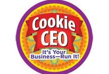 Cookie CEO Badge -- Junior Girl Scout Badge Ideas / Requirements for earning the Cookie CEO Junior badge--  Step 1: Set a group goat.  Step 2: Explore how a small business works.  Step 3: Create a cookie sale job list.  Step 4: Learn to make a good impression.  Step 5: Tack your sales. / by Junior Girl Scout Badges