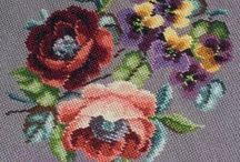 Cross Stitch, Berlin Wool Work, Antique Needlepoint Floral / by nurdan kanber