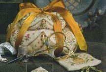 Pillows, Biscornus, Cushions, Pincushions, Foot Chairs,Hardangers, etc. / by nurdan kanber