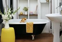 Trend Spotlight: Black, White and Yellow / Black white and yellow decor / by Joss and Main