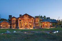 Log home / A collection of log and timberframe homes. / by Calin Yablonski
