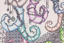 Doodle and Zentangle / I've created some new boards with Doodle and Zentangles patterns, tutorials, videos and  decorated objects, please visit  them:-) / by Marzia Piccinini