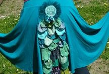 Upcycled clothing etc / Those wonderful inspiring pieces of cloth art. To make, or wear. To help me get inspired to make my own stuff in my own distinctive style. True up-cycled pieces or apparel I admire and aspire to make.......  / by Myrrha Freemanontheland