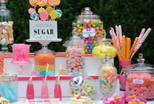 """VIENNESE HOUR / Candy Bars, Dessert Buffets, Party tables full of gorgeous, stunning displays of sweets!! At Italian Weddings we call it the """"VIENNESE HOUR""""! / by Jenn Klein"""