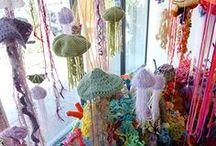 Crafty - Yarn Art / Such as yarnbombing, installations & shop window displays! x / by Elizabeth Crowe
