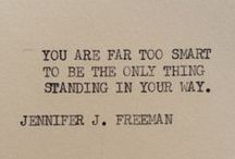 Thoughts | Words / by Amanda Perkey