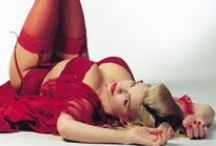 The Woman in Red / That hot blonde in red from that Matrix movie / by Os N Rac