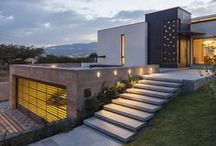 Dream Modern Exteriors / I won't add it if I wouldn't want to live in it. / by Tonya Wariner