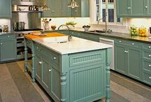 Kitchen / Storage solutions, color palates, decor, nifty tools and other ideas for a cottage kitchen / by Brittany Horton