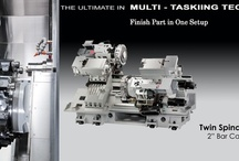 Multi Tasking CNC Machines -- Ganesh Machinery / Multi Tasking & Multi Axis CNC machines combine Turning & Milling front and back for a finished part, next generation's CNC Multitasking machine. For more information www.ganeshmachinery.com  / by Ganesh Machinery