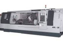 "CNC Turning Slant Bed Lathes I Slant Bed Turning Centers - Ganesh Machinery / Heavy Duty CNC Slant Bed Lathes, the ASL-8 with 8"" chuck and 2-1/2"" bar capacity, and the ASL-10 with 10"" chuck and 3"" bar capacity. The ASL-15 comes standard with a 15"" chuck and 4"" bar capacity, with a 6.5"" bar capacity optional. The ASL-20 comes standard with a 20"" chuck and 4.5"" bar capacity with a 6.5"" bar capacity option.  setup.www.ganeshmachinery.com  / by Ganesh Machinery"