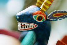 Alebrijes / Mexican folk art sculptures of fantastical creatures. / by Big Owl