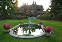 "Secret Sunken Garden / Find the 100-year old gates to our sunken English garden and you will feel you are stepping into the novel ""The Secret Garden."" Designed by the Olmstead brothers. / by Thornewood Castle"