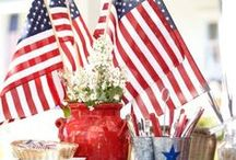 4TH of JULY / The fourth of July is our countries Birthday...It would not be complete without food, flag waving, and fireworks...It's a true and wonderful Holiday...ee... / by Eva Eutsler