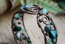 Jewelry-Wirework, Metalwork, & Clay / jewelry, DIY, wire jewelry, metal jewelry, craft, polymer clay, metal clay / by Angie Gaul