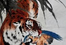 Art-Chinese art & Calligraphy / by AromaMeadow /graphic design/art teacher