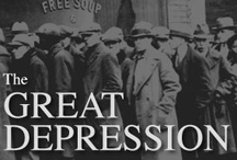 The Great Depression  / 1929 - 1939 / The Great Depression was a severe worldwide economic depression in the decade preceding World War II. The timing of the Great Depression varied across nations, but in most countries it started in 1930 and lasted until the late 1930s or middle 1940s. It was the longest, most widespread, and deepest depression of the 20th century.  / by Jeff Dyer