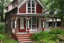 ~ Red and White Cottage Style & Victorian Houses & Decor ~ / Welcome. Lovely Red Cottages and Victorian Houses. Enjoy and Pin Freely! / by Anne Barlow