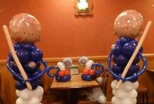 chicago cubs baby shower balloons / by rosielloons
