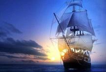 Ships at sea / by Megan Joel Peterson