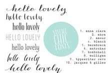 fonts / by Christina Anglum