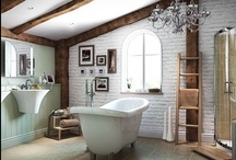 Country style bathrooms / Looking to give your bathroom a rustic look that's contemporary too? Browse our gallery for inspiration, tips and advice.  / by Bathrooms.com