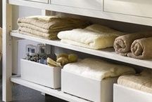 Clever bathroom storage ideas / Got a small space you need to organise cleverly? Or just want to indulge in some good looking storage for your spacious spa? Browse our board for inspiration and ideas / by Bathrooms.com
