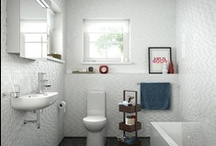 Design ideas for small bathrooms / Bathroom the size of a postage stamp? Plan it cleverly and it can feel bigger and brighter. Browse our board for ideas, advice and tips / by Bathrooms.com