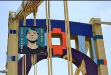 Knit the Bridge / Knit the Bridge is a grassroots, community-led arts project that brought communities throughout Southwestern Pa. together to create a large-scale, stunning fiberarts installation on Allegheny County's Andy Warhol Bridge, which connects Downtown Pittsburgh to the North Side. In conjunction with Fiberart International 2013, the intention of Knit the Bridge is to celebrate the history of Pittsburgh as a city of bridges and steel, as well as our region's thriving, contemporary arts scene. / by Allegheny County
