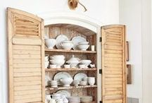 Shutter Ideas / Shutters have been commonly used to dress up window openings, but today are most often used for creative design ideas.  We like to add a new creative twist when giving these old reclaimed shutters new life.  / by Real Antique Wood