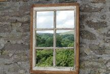 Antique Window Ideas / Antique Windows can be used for shadow boxes, displays, wall hangings, picture frames and so much more. You are limited only by your imagination. / by Real Antique Wood