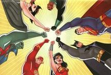 Super-heróis e vilões / Mesmo não lendo quadrinhos eu gosto de super-heróis e vilões! rs /// Although I don't read comics, I like super-heroes and vilains! Thank you Bruce Timm for introduce me to this world by Justice League TV show! Yes, I'm a poser! / by Marcelle Gonçalves