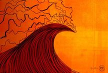 Surf Art / A collection of surfing art from artists worldwide.  / by True Ames Surf Fins