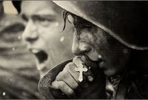 """Warriors, Strife, & War / """"Americans, indeed all free men, remember that in the final choice a soldier's pack is not so heavy a burden as a prisoner's chains ... I hate war as only a soldier who has lived it can, only as one who has seen its brutality, its futility, its stupidity."""" ~ Dwight David Eisenhower  / by Renata Bursten"""